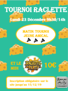 affiche tournoi raclette